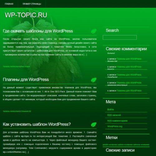 Бесплатный шаблон WordPress RainOnLeaves
