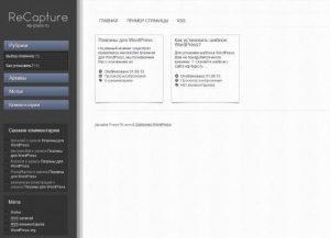 Бесплатный шаблон WordPress ReCapture