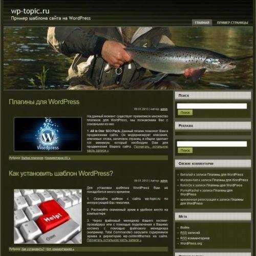 Бесплатный шаблон WordPress Salmon Fishing