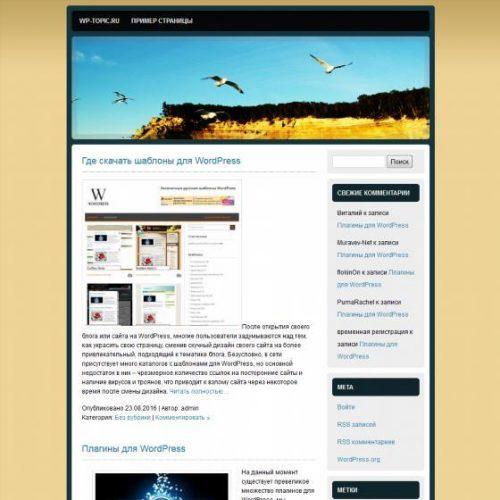 Бесплатный шаблон WordPress See you at the Beach
