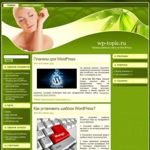 Бесплатный шаблон WordPress Skincare WP Delight