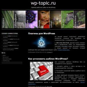 Бесплатный шаблон WordPress Sliding Door