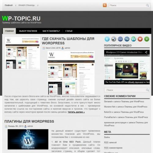 Бесплатный шаблон WordPress SoliMex