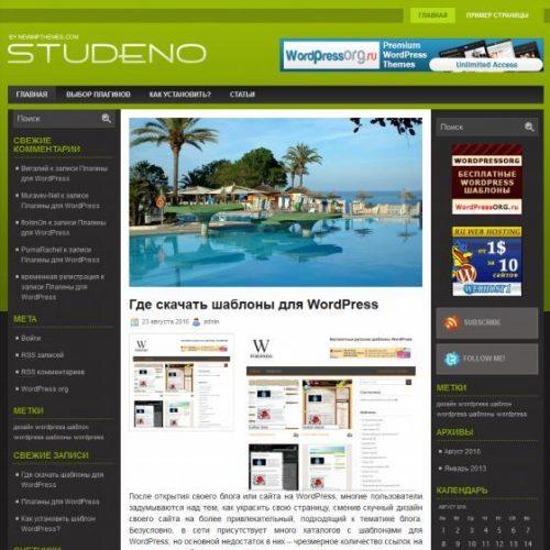 Бесплатный шаблон WordPress Studeno