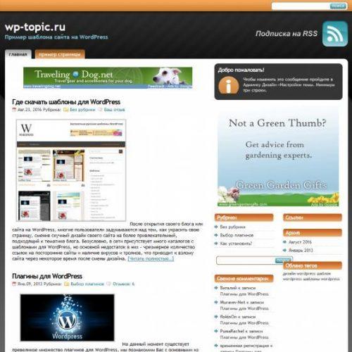 Бесплатный шаблон WordPress StudioPress Orange