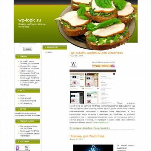 Бесплатный шаблон WordPress SW Food