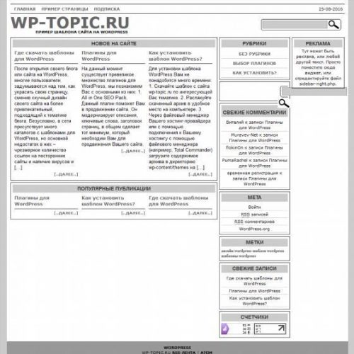 Бесплатный шаблон WordPress Technical Speech