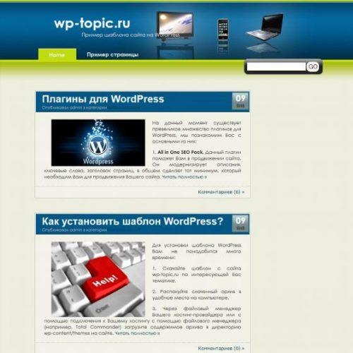 Бесплатный шаблон WordPress Technologist
