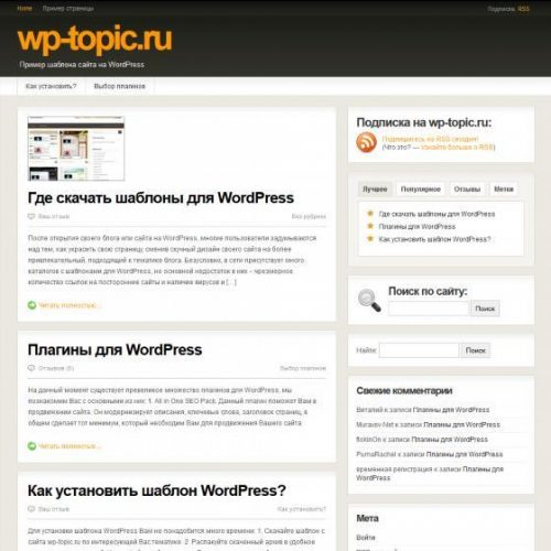 Бесплатный шаблон WordPress ThrillingTheme