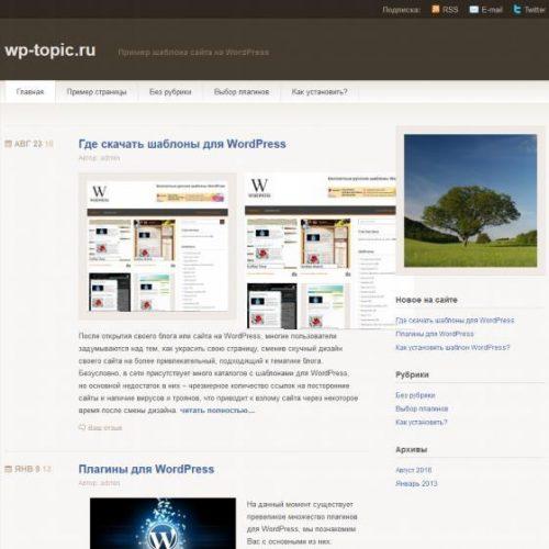 Бесплатный шаблон WordPress Titan