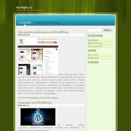 Бесплатный шаблон WordPress Vista Colorz