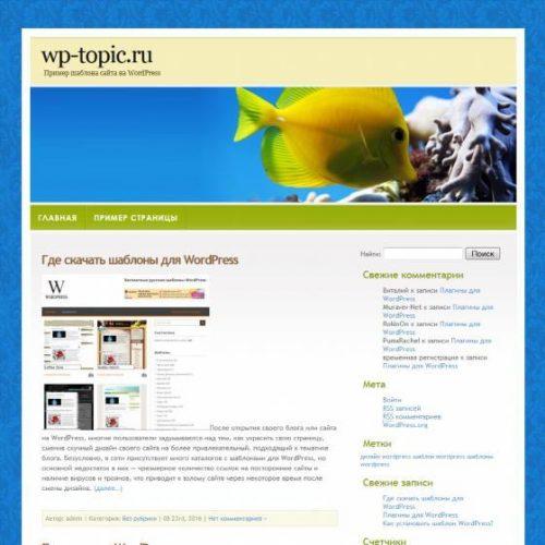 Бесплатный шаблон WordPress Waterpark