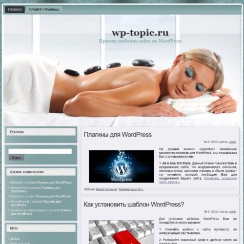 Бесплатный шаблон WordPress White Spa