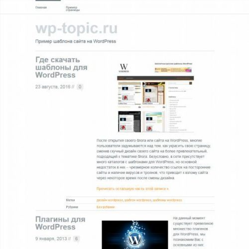 Бесплатный шаблон WordPress Wu Wei