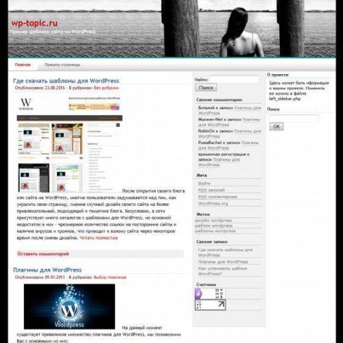 Бесплатный шаблон WordPress YGo Lonely